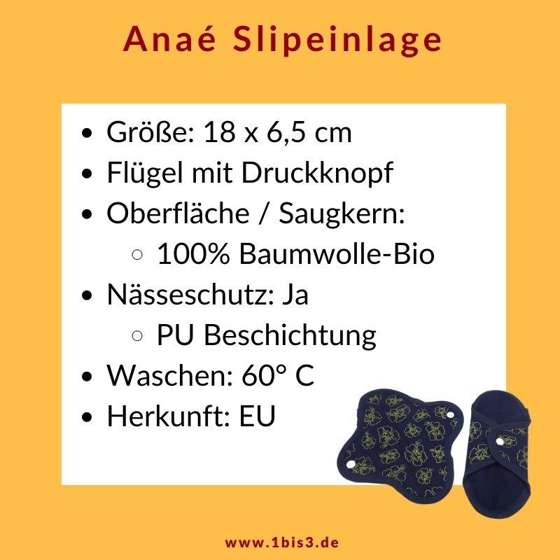 Anaé Slipeinlagen aus Bio-Bauwmolle Doppelpack