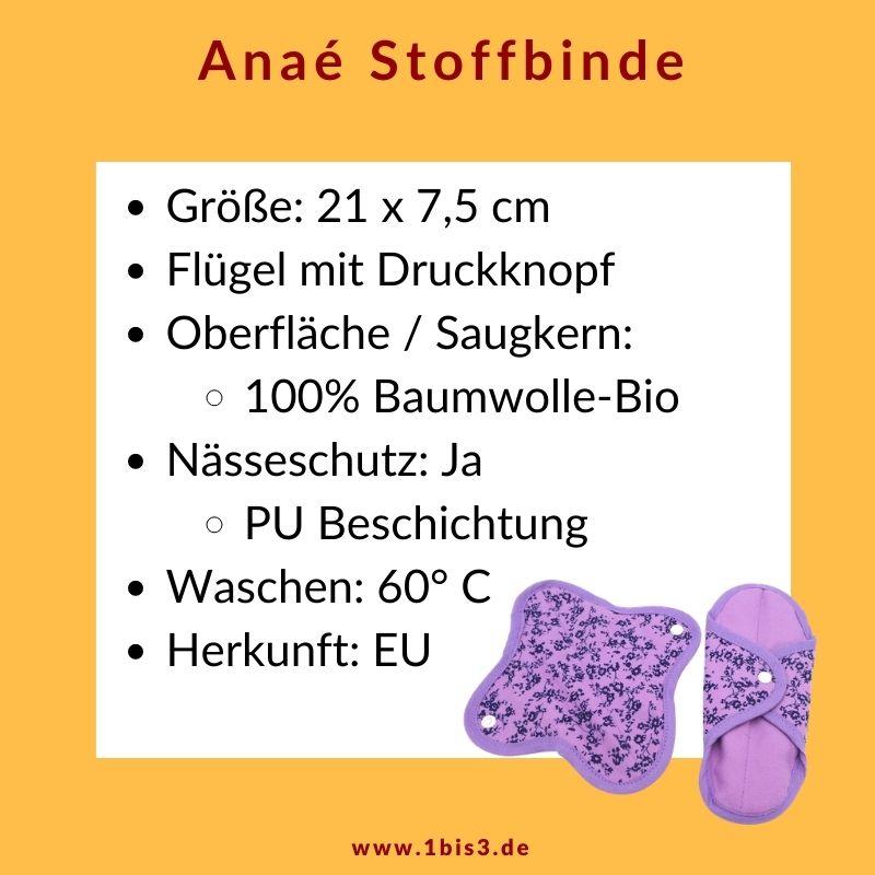 Anae Stoffbinde aus Bio-Baumwolle mit Nässeschutz