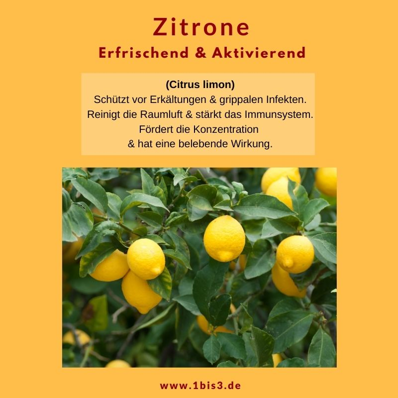Zitrone ätherisches Öl