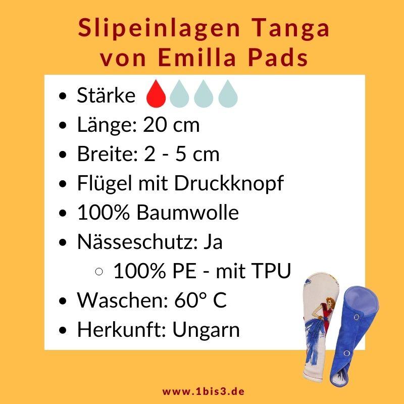 Slipeinlage Tangaform von Emilla Pad