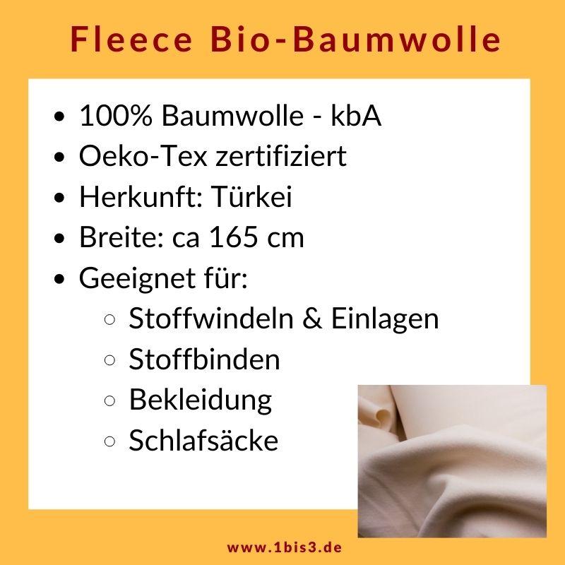 Fleece Bio-Baumwolle 100%