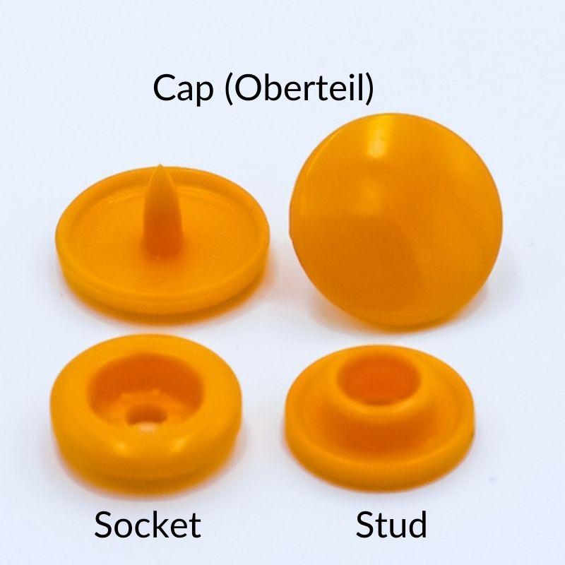 Snap Set: 2 x Cap, 1 x Socket, 1 x Stud