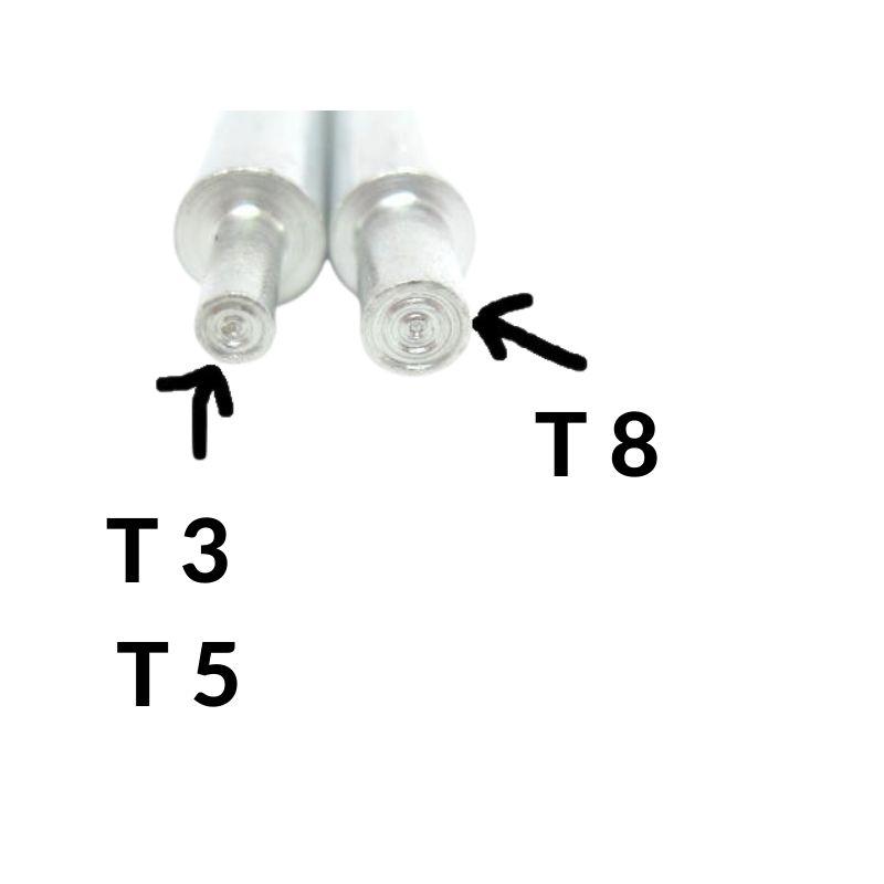 Metallstifte dick T8 und dünn T3/T5