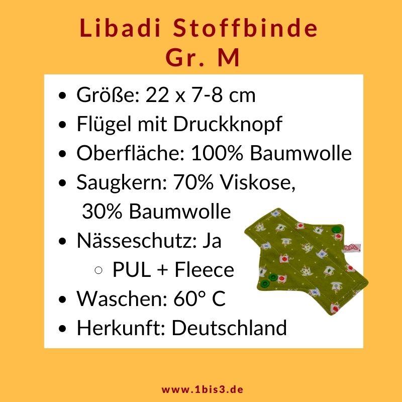 Libadi Stoffbinde Größe M für die normale Blutung
