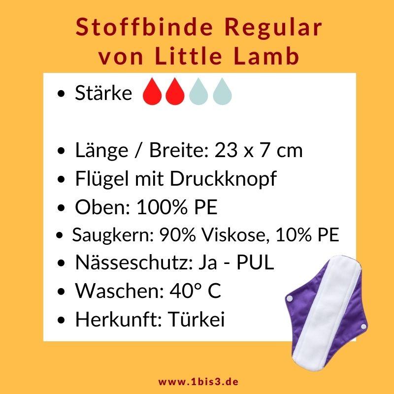 Little Lamb Stoffbinde für den Tag