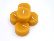 Teelicht aus Bienenwachs (1 Stück)
