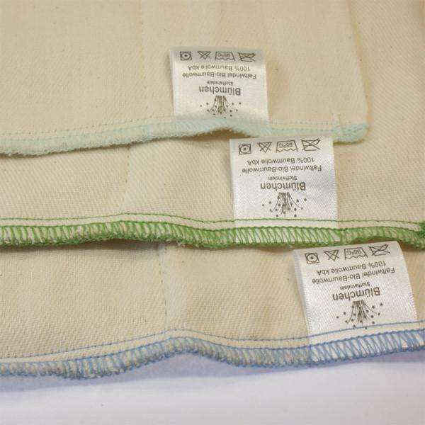 Blümchen Prefold aus Bio-Baumwolle (1 Stück)