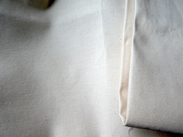 Meterware: Baumwollköper, rohweiß (ab 20 cm)