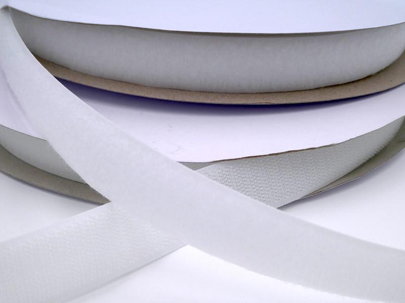 Touch Tape 25 mm Klettband - weiß (Haken oder Flausch)