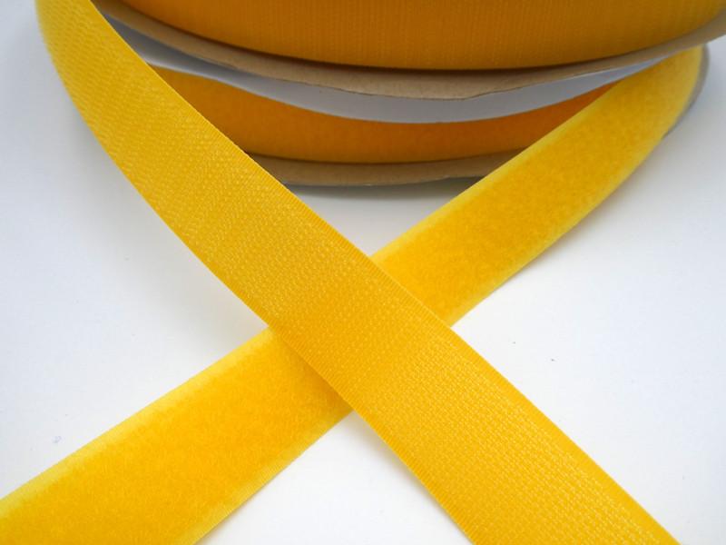 Touch Tape 25 mm Klettband, gelb (Flausch oder Haken)