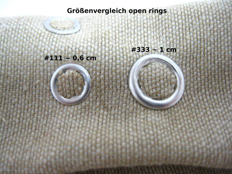 Open Ring #333 Druckknöpfe (50er Set)