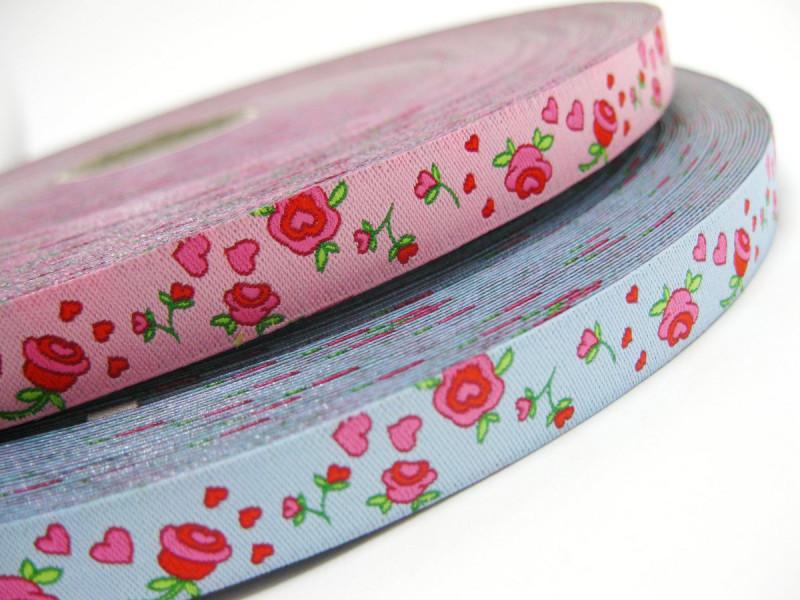Webband: Rosenblüten