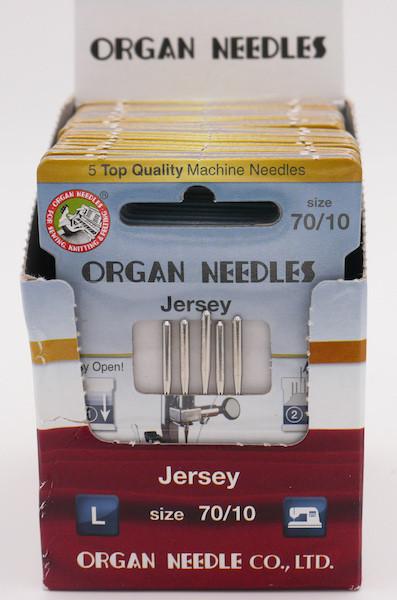 Organ Nadeln Jersey 70 (5 Stück)