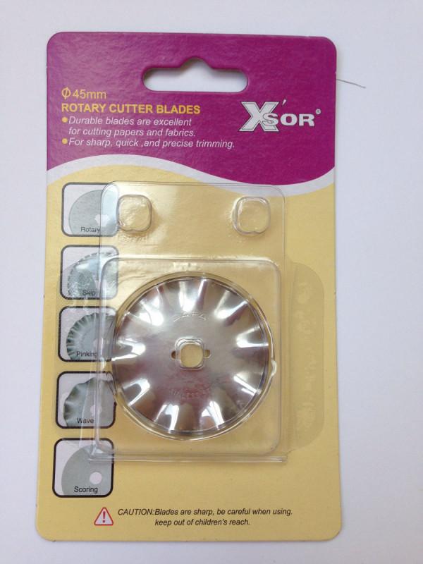 XSOR Ersatzklinge Wellen (Rollschneider, 45 mm)