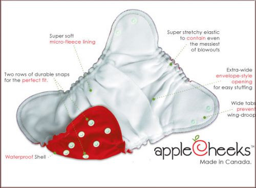 Applecheeks Pocketwindel Gr. 2 (8-18 kg)