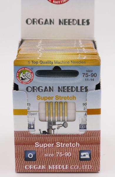 Organ Nadeln Super Stretch 75-90 (5 Stück)