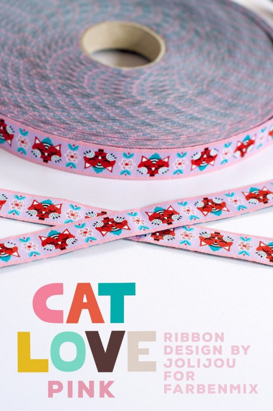 Webband: Cat love pink