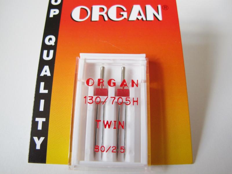 Organ Zwillingsnadel 75 (2 Stück)