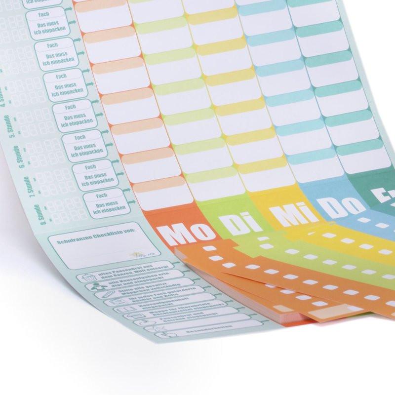 Schulranzen Packliste Abreißblock DIN A4 (50 Blatt)