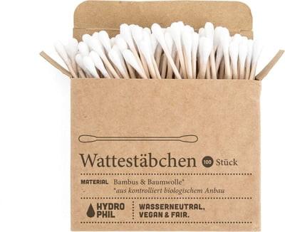 Wattestäbchen aus Bambus & Baumwolle (100 Stück)