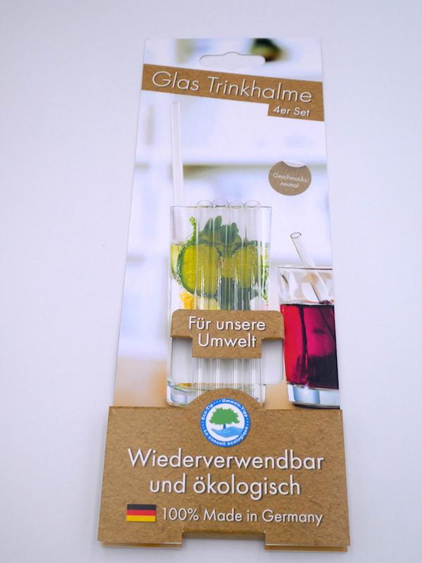 Trinkhalme aus Glas (4 Stück)