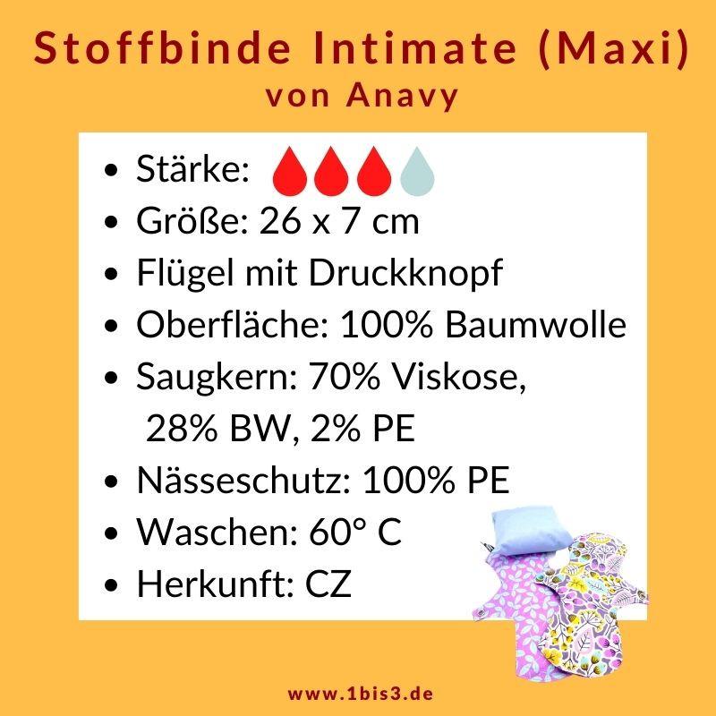 Anavy Stoffbinde Maxi Baumwolle (2 St.) + Tasche