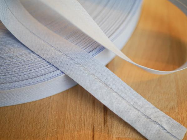 Schrägband reine Baumwolle uni (ab 1 Meter)