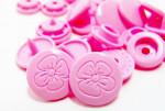 Babysnaps Knöpfe mit Gravur in  Farbe B 18 rosa