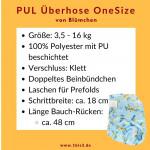 Blümchen OneSize Überhose Klett (3,5 - 16 kg)