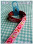 Webband: Paisleyband pink