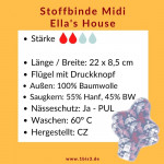 Ellas House Moon Stoffbinde Midi * 22 x 8,5 cm * (2 St.)
