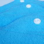 Blümchen Stoffbinde Gr. M - Kuschelstoff + Jersey - 26 x 5 cm