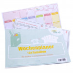 Wochenplaner für Familien Vordruck Abreißblock DIN A4 (50 Blatt)