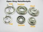 Open Ring #222 Druckknöpfe (500er Set)