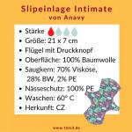Anavy Intimate Slipeinlage (2 St. + Beutel) - 21 x 7 cm