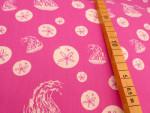 Sand Dollars & Jelly Pink (Bio-Baumwolle)