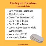 Avo&Cado Einlagen aus Bambusviskose * 3-lagig (5 St.)