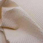 Waffelpique Bio-Baumwolle - Creme