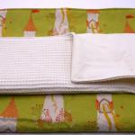 Wollunterlage + Bio-Baumwolle Auflage (2 tlg.) - 50 x 80 cm