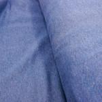 Sweatshirtstoff Bio-Baumwolle Jeansblau (ab 20 cm)