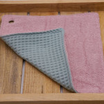 Spüllappen Bio-Baumwolle mit Öse (24 x 24 cm)