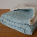 Babydecke Bio-Baumwolle - 2-Seitig (75 x 70 cm)