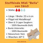 Stoffbinde Midi Bella - 23 x 8 cm