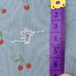 Voile Bio-Baumwolle Kirschkern spucken, blau (ab 20 cm)
